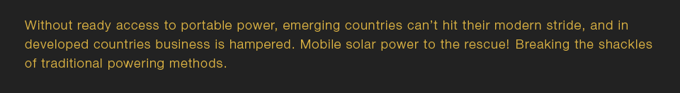 Without ready access to portable power, emerging countries can't hit their modern stride.