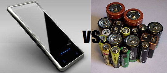 On-the-go solar charging versus alkaline batteries
